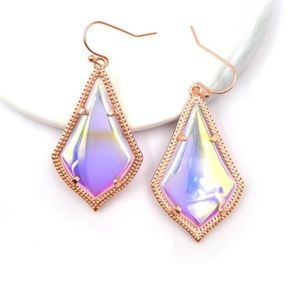 NEW Rose Gold Dichroic Dangle Earrings